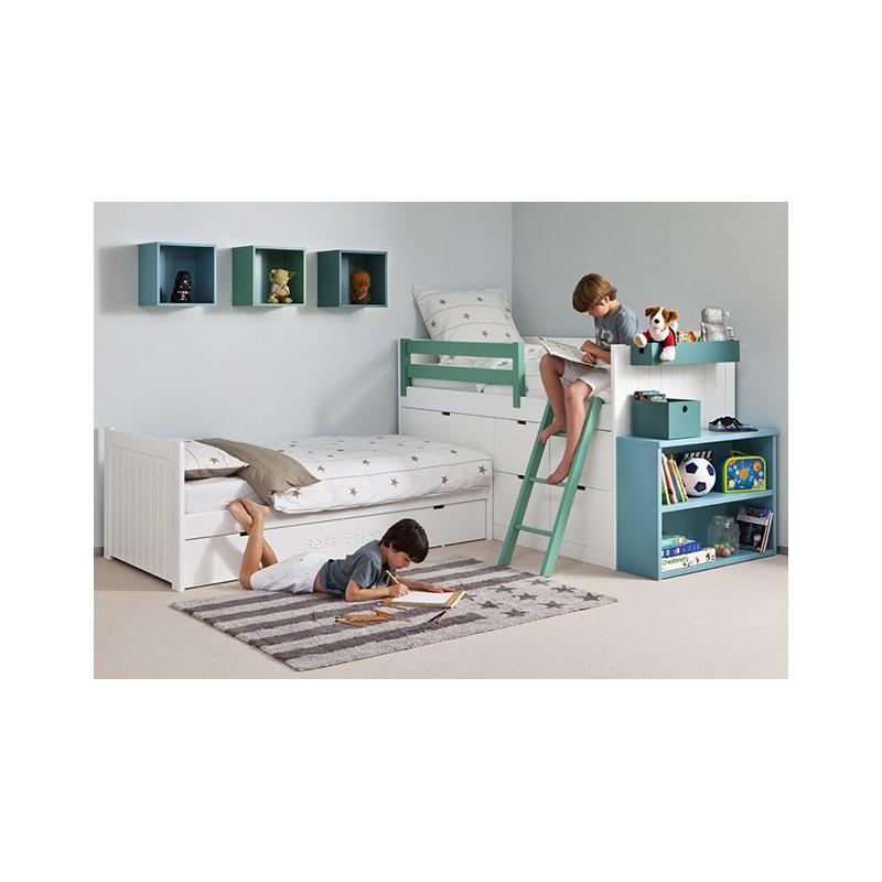 Habitaci n infantil con cama block en ngulo - Literas en angulo ...