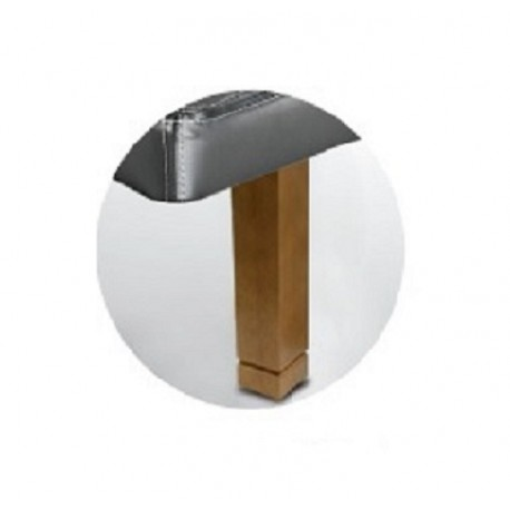 Juego 4 patas 25cm madera cuadrada roble + pata metálica central